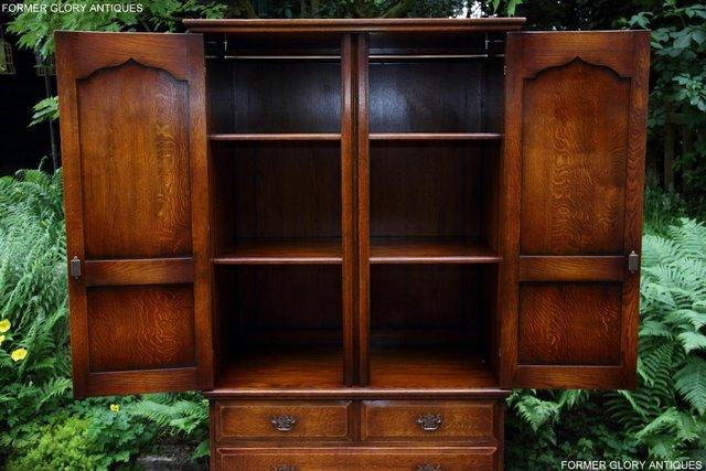 Image 21 of TITCHMARSH GOODWIN ROYAL OAK WARDROBE CHEST OF DRAWERS STAND