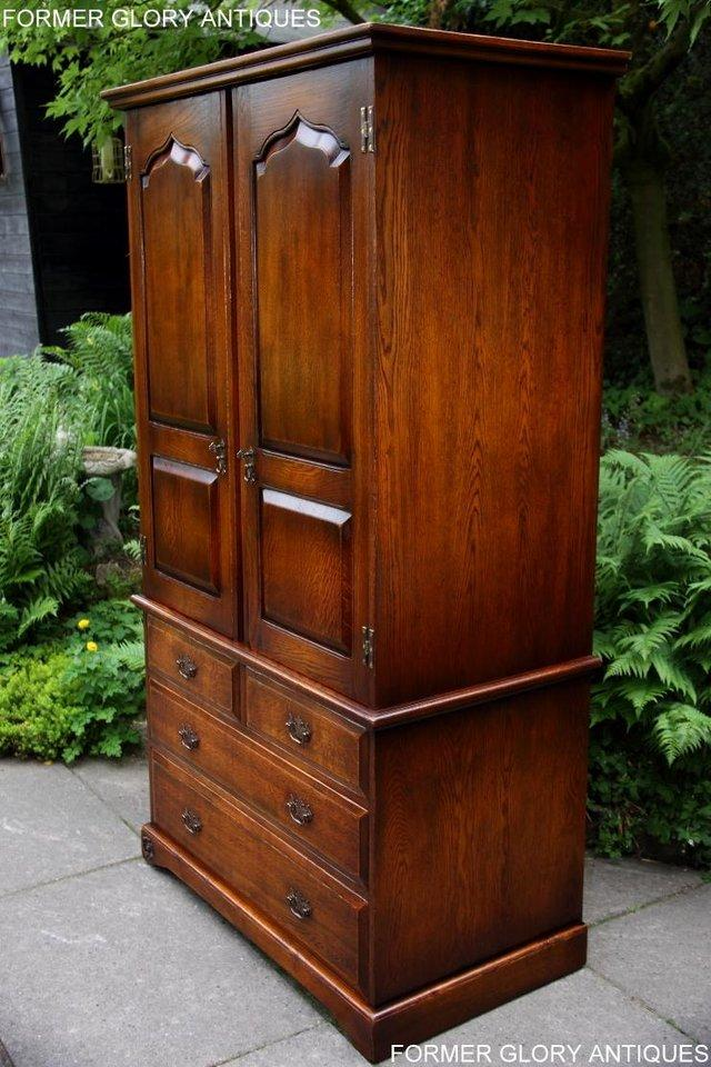 Image 29 of TITCHMARSH GOODWIN ROYAL OAK WARDROBE CHEST OF DRAWERS STAND