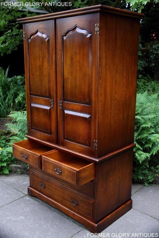 Image 34 of TITCHMARSH GOODWIN ROYAL OAK WARDROBE CHEST OF DRAWERS STAND