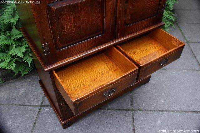 Image 79 of TITCHMARSH GOODWIN ROYAL OAK WARDROBE CHEST OF DRAWERS STAND