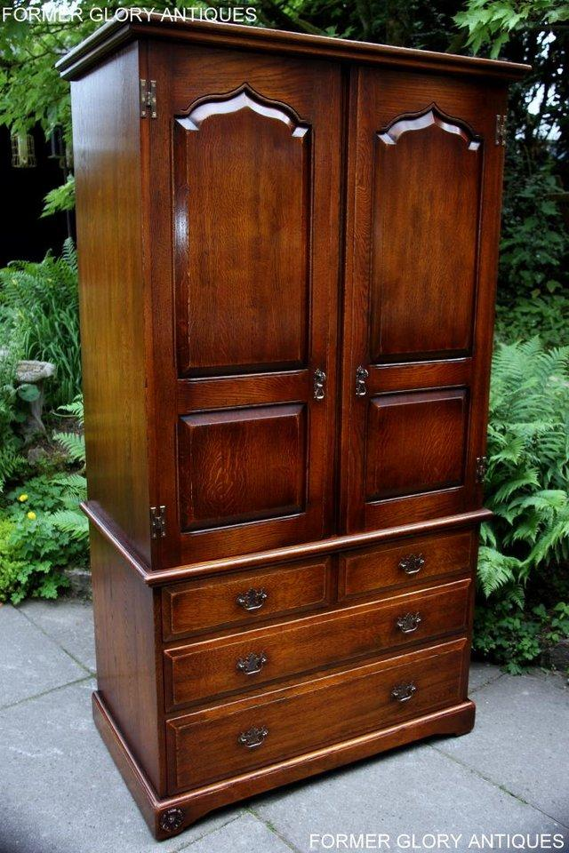 Image 90 of TITCHMARSH GOODWIN ROYAL OAK WARDROBE CHEST OF DRAWERS STAND