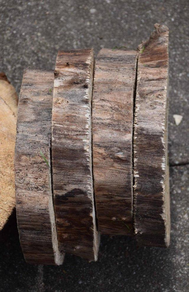 Preview of the first image of Rustic Log Slices for Wedding Cake Stand REDUCED PRICE.