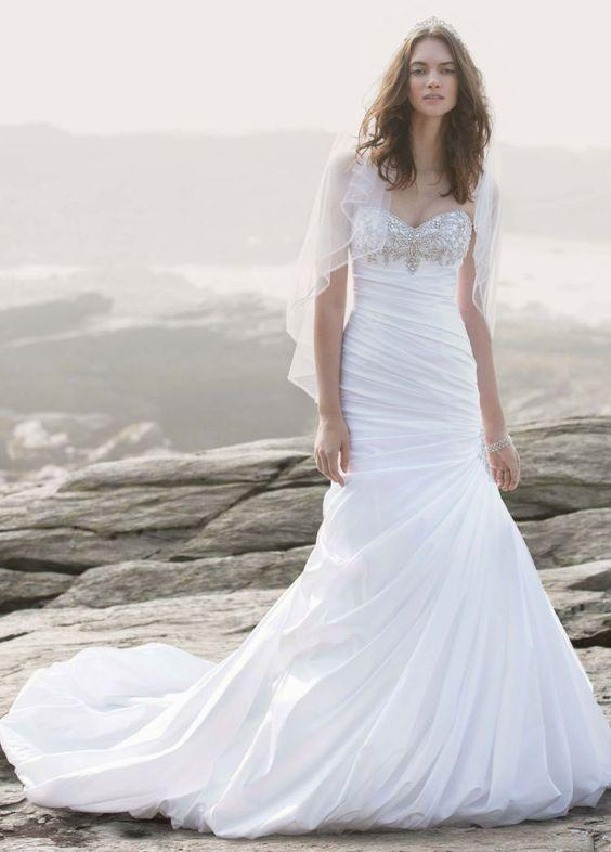 71748c1e30a David s Bridal Strapless Sweetheart Mermaid Wedding Dress For Sale ...