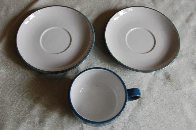 ... Denby Azure items in my other ad. They also had almost no use so have that new glossy glaze look. The cup is a large breakfast size  4 1/4  diam. & denby - Second Hand Cutlery and Crockery Buy and Sell in the UK and ...
