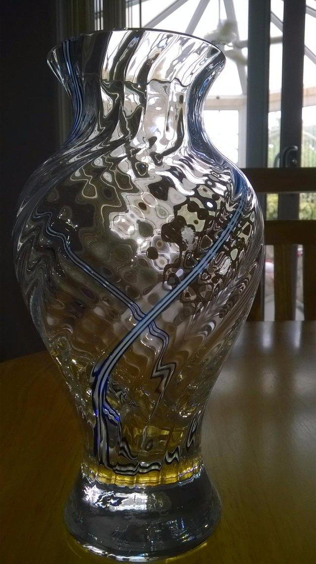 Caithness Glass Blue Swirl Vase For Sale In Brough East Yorkshire