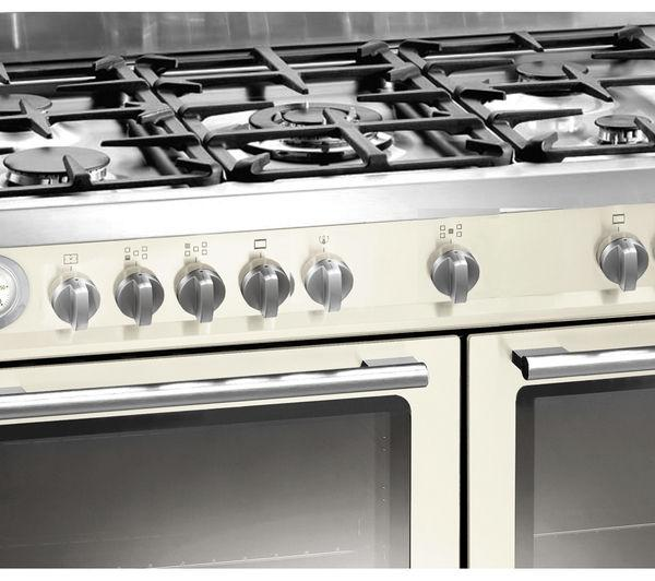 Preview of the first image of BAUMATIC IVORY 90CM DUAL FUEL RANGE COOKER-WOK BURNER-WOW-.