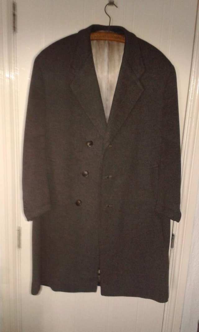 Preview of the first image of Grey Crombie Overcoat.