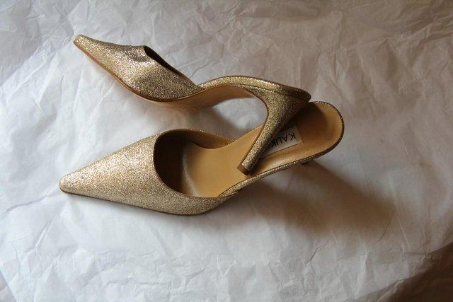 Image 2 of Kaliko Brand - Gold Sparkle Shoes – Size 5 / 38