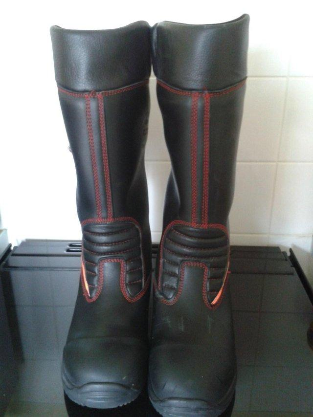 Jolly leather firefighter/rigger boots