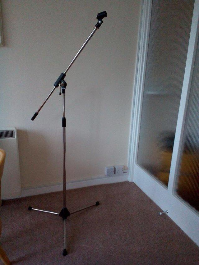 boom mic stand for sale in uk 75 used boom mic stands. Black Bedroom Furniture Sets. Home Design Ideas