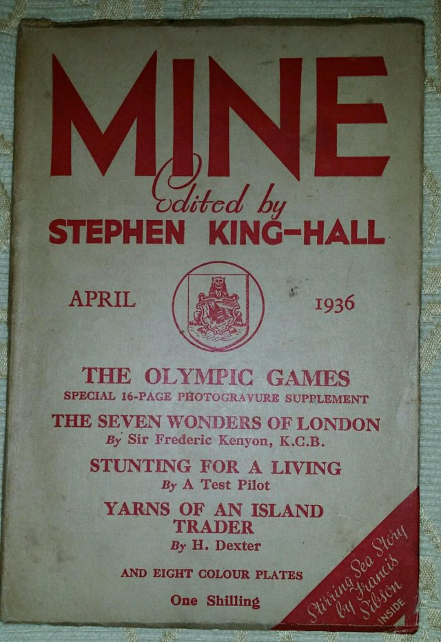 Preview of the first image of Rare April 1936 Special Olympics Edition Of MINE.