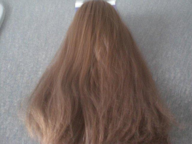 Preview of the first image of Hair Clip straight hair ponytail - two styles with one quick.