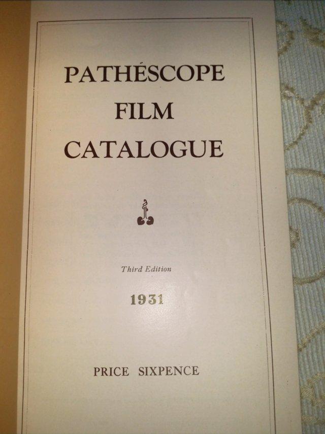 Image 2 of 1931 PATHESCOPE Safety Fim Catalogue.
