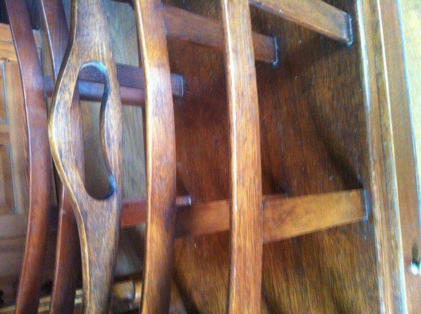 Image 2 of Antique hardwood magazine stand