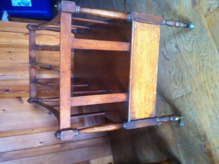 Image 3 of Antique hardwood magazine stand