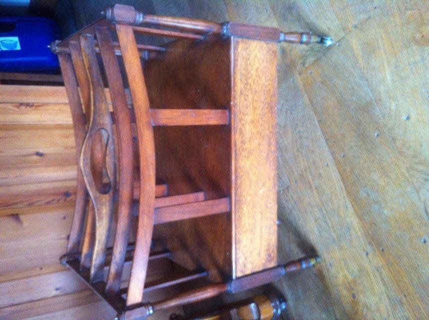 Image 4 of Antique hardwood magazine stand