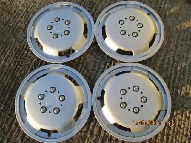 Preview of the first image of 4 x 16 inch Motorhome wheeltrims.