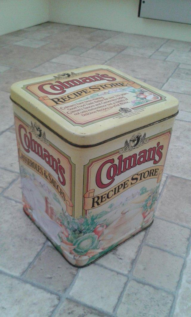 Preview of the first image of KITCHINALIA, Colemans Recipe Tin.