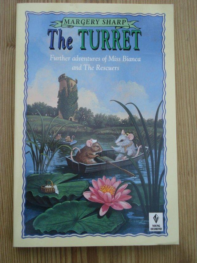 """Preview of the first image of NEW CHILDREN'S PAPERBACK """"THE TURRET"""" by Margaret Sharp."""