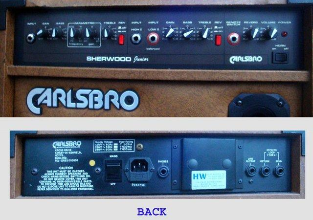 Preview of the first image of Carlsbro Sherwood Junior Semi-acoustic Guitar Amp.