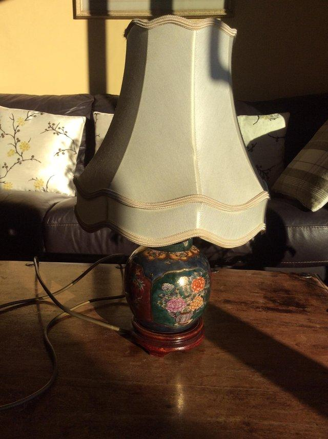 Preview of the first image of Chinese side lamp and shade.