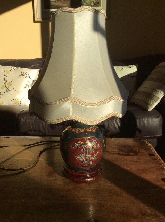 Image 2 of Chinese side lamp and shade
