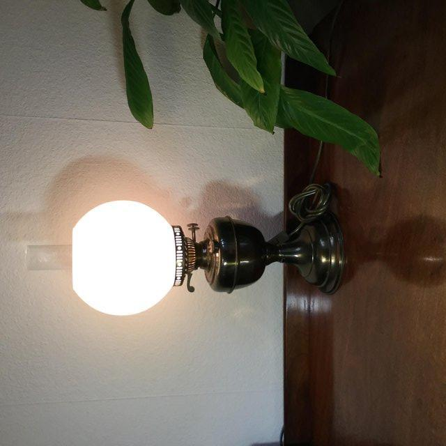 Image 2 of Antique table lamp in the style of Edwardian gas lamp