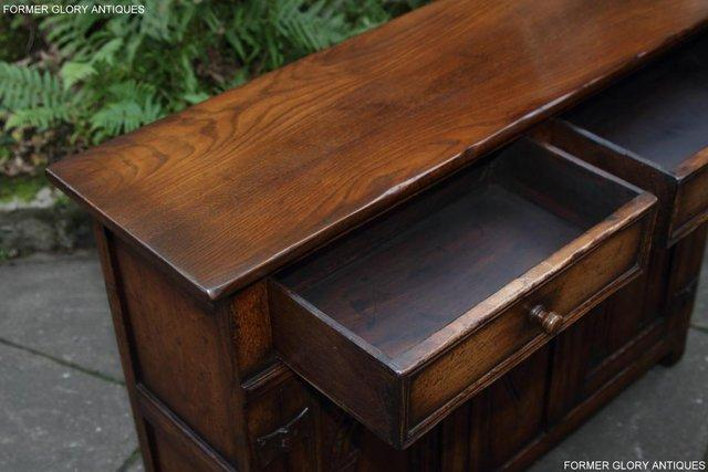 Image 8 of A TITCHMARSH & GOODWIN OAK DRESSER BASE SIDEBOARD HALL TABLE