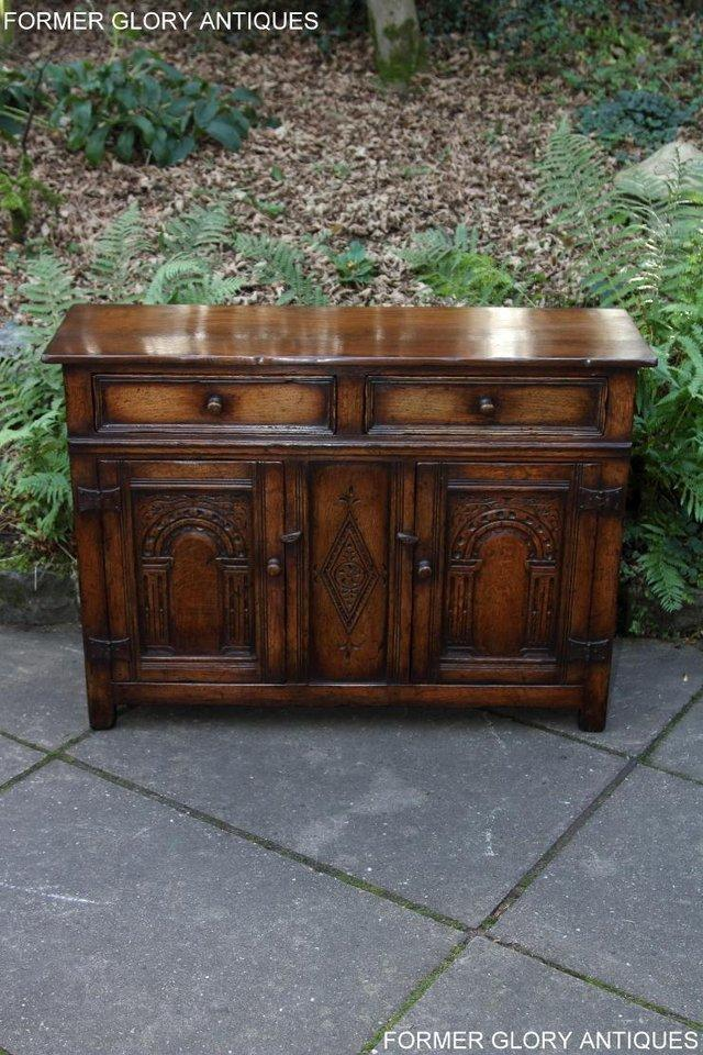 Image 13 of A TITCHMARSH & GOODWIN OAK DRESSER BASE SIDEBOARD HALL TABLE