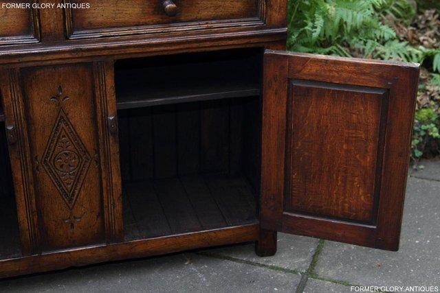 Image 14 of A TITCHMARSH & GOODWIN OAK DRESSER BASE SIDEBOARD HALL TABLE