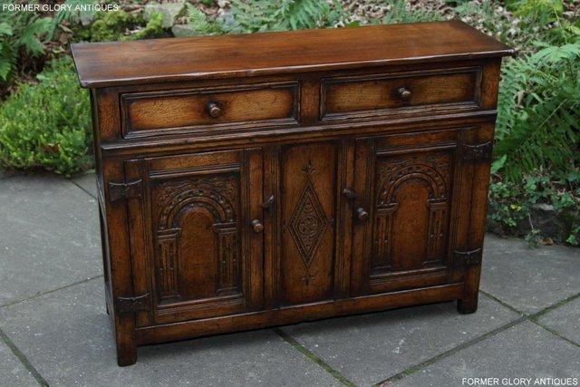 Image 15 of A TITCHMARSH & GOODWIN OAK DRESSER BASE SIDEBOARD HALL TABLE