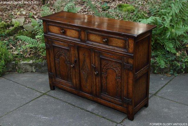 Image 16 of A TITCHMARSH & GOODWIN OAK DRESSER BASE SIDEBOARD HALL TABLE