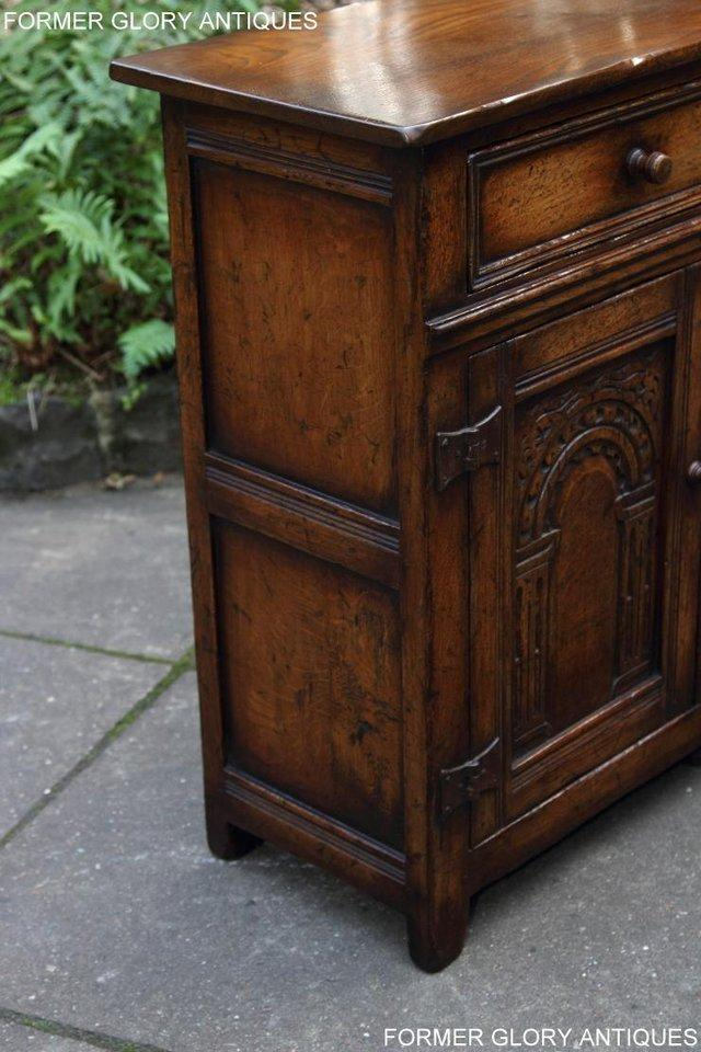 Image 20 of A TITCHMARSH & GOODWIN OAK DRESSER BASE SIDEBOARD HALL TABLE