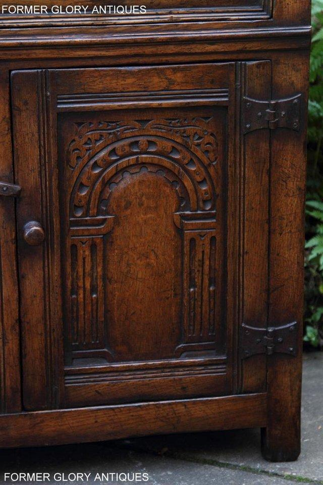 Image 21 of A TITCHMARSH & GOODWIN OAK DRESSER BASE SIDEBOARD HALL TABLE