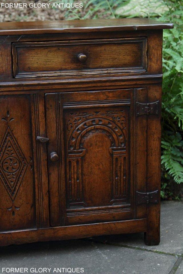 Image 27 of A TITCHMARSH & GOODWIN OAK DRESSER BASE SIDEBOARD HALL TABLE