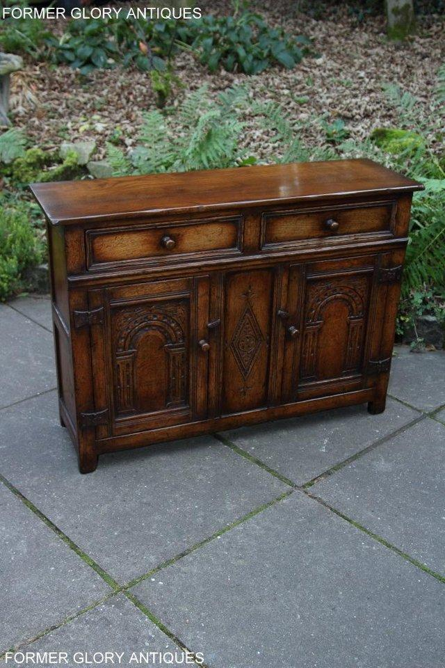 Image 30 of A TITCHMARSH & GOODWIN OAK DRESSER BASE SIDEBOARD HALL TABLE