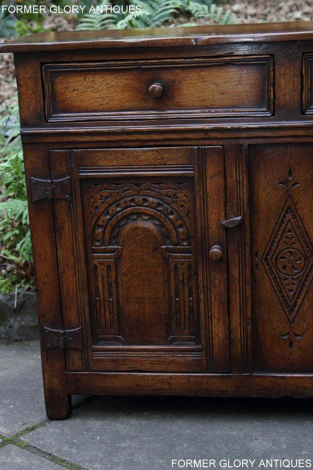 Image 34 of A TITCHMARSH & GOODWIN OAK DRESSER BASE SIDEBOARD HALL TABLE