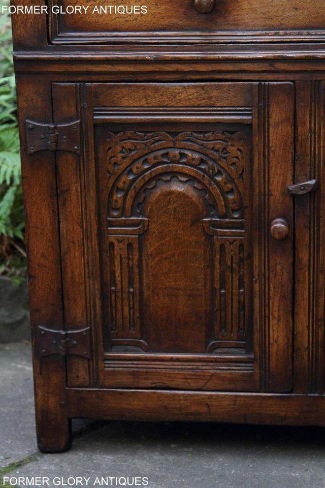 Image 43 of A TITCHMARSH & GOODWIN OAK DRESSER BASE SIDEBOARD HALL TABLE