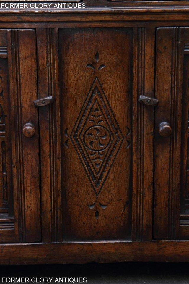Image 50 of A TITCHMARSH & GOODWIN OAK DRESSER BASE SIDEBOARD HALL TABLE