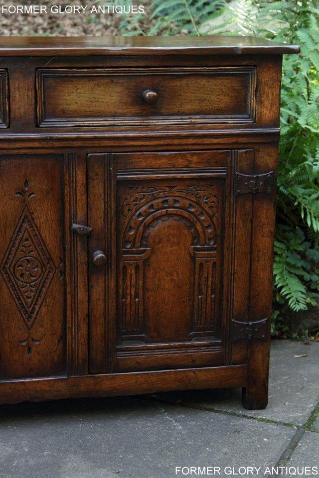 Image 51 of A TITCHMARSH & GOODWIN OAK DRESSER BASE SIDEBOARD HALL TABLE