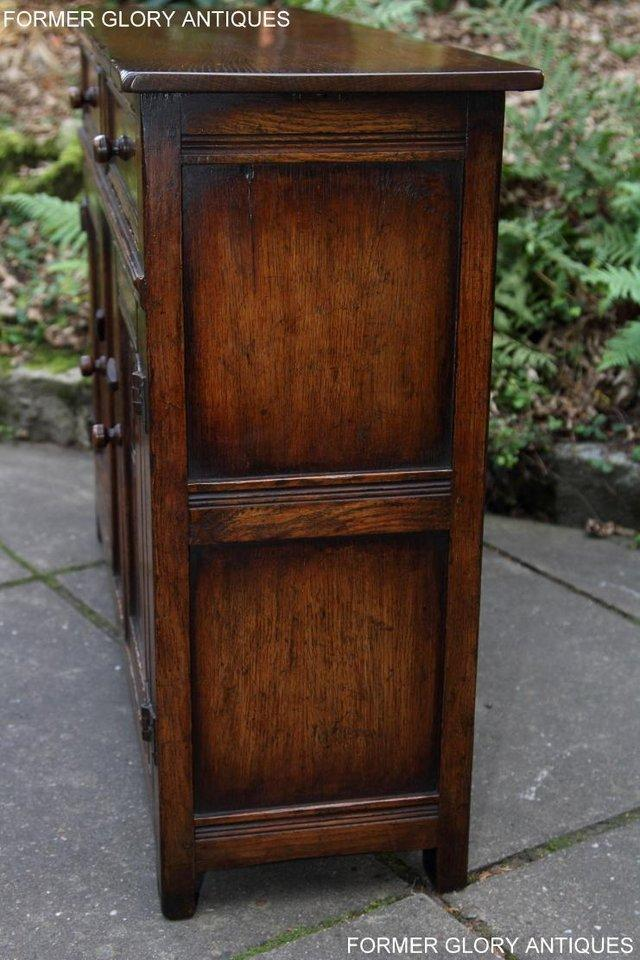 Image 55 of A TITCHMARSH & GOODWIN OAK DRESSER BASE SIDEBOARD HALL TABLE