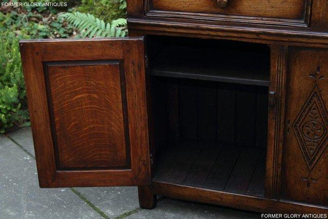 Image 62 of A TITCHMARSH & GOODWIN OAK DRESSER BASE SIDEBOARD HALL TABLE