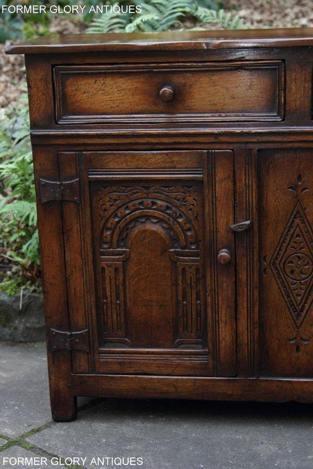 Image 72 of A TITCHMARSH & GOODWIN OAK DRESSER BASE SIDEBOARD HALL TABLE