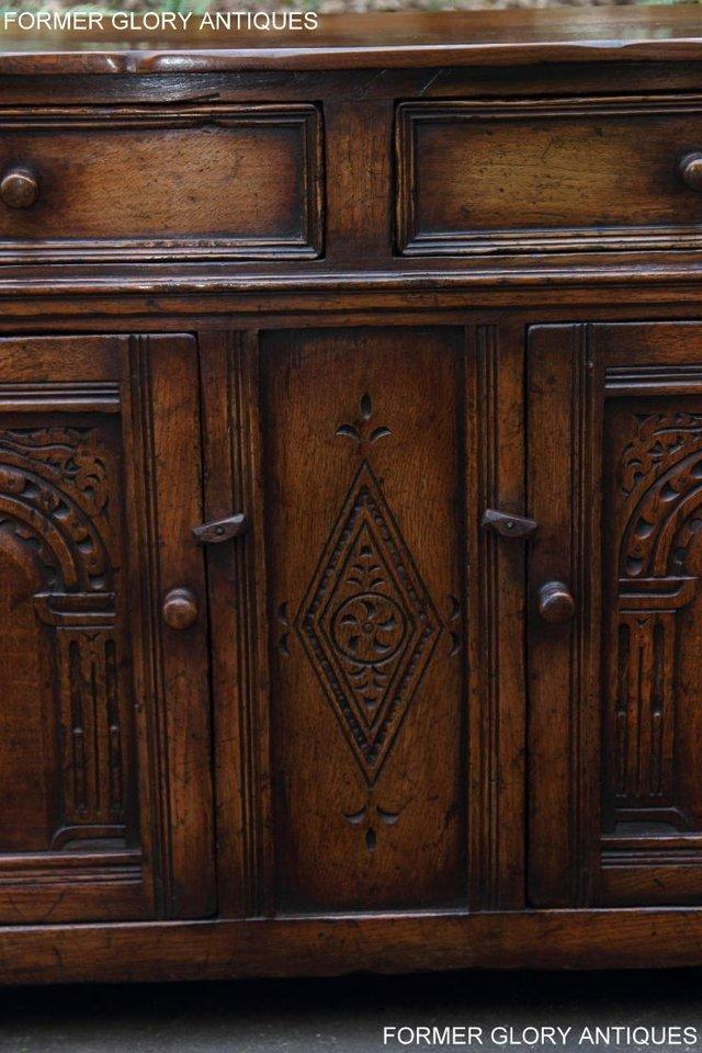 Image 76 of A TITCHMARSH & GOODWIN OAK DRESSER BASE SIDEBOARD HALL TABLE