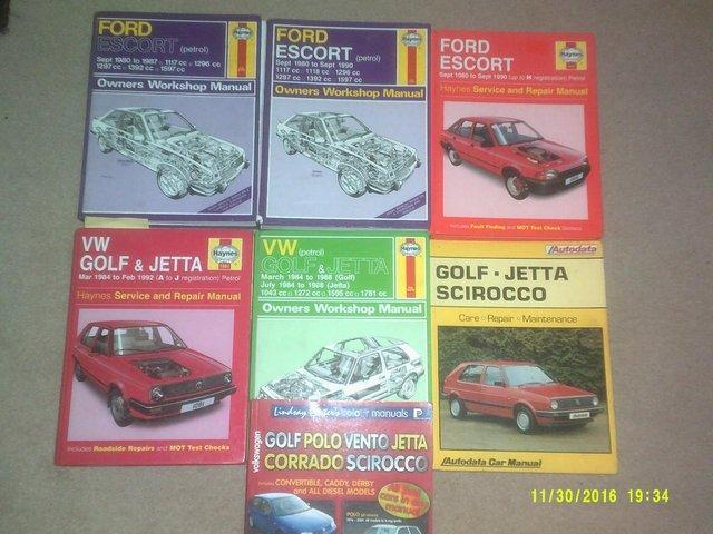 Preview of the first image of Haynes Manuals, various from 60's, 70's and 80's.