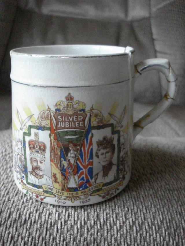 Image 2 of ANTIQUE KING GEORGE V QUEEN MARY SILVER JUBILEE 1910-35 MUG