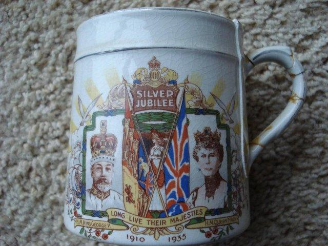 Image 3 of ANTIQUE KING GEORGE V QUEEN MARY SILVER JUBILEE 1910-35 MUG