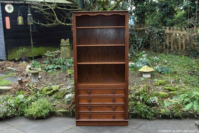 Preview of the first image of JAYCEE OLD CHARM OPEN BOOKCASE CHEST OF DRAWERS CD SHELVES.