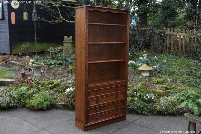 Image 2 of JAYCEE OLD CHARM OPEN BOOKCASE CHEST OF DRAWERS CD SHELVES