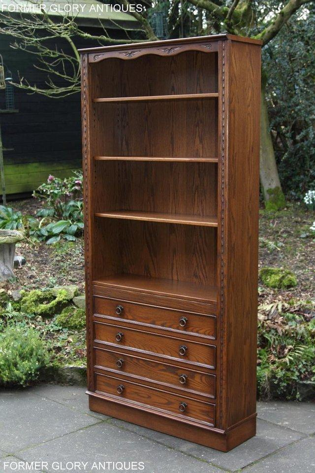 Image 6 of JAYCEE OLD CHARM OPEN BOOKCASE CHEST OF DRAWERS CD SHELVES